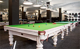 Billiard club with 'Magnate' tables